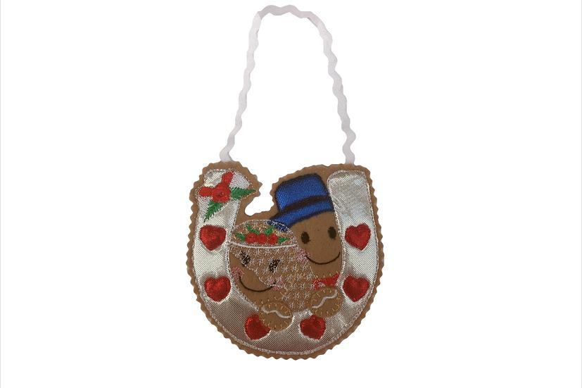 Wedding Horseshoe Gingerbread Decoration / Ruby Wedding Anniversary Gift