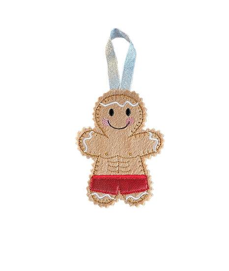 Body Builder Gingerbread Decoration