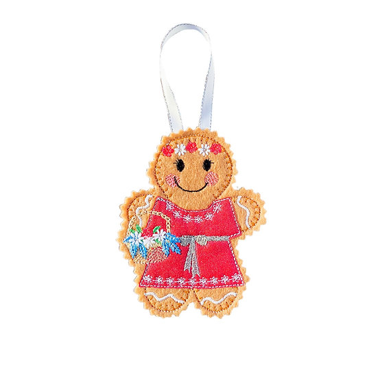 Flower Girl Gingerbread Decoration