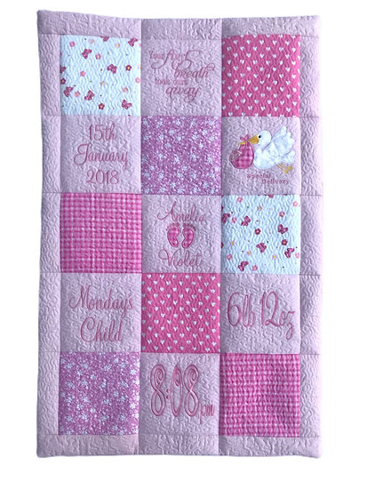 Personalised Quilt Girl