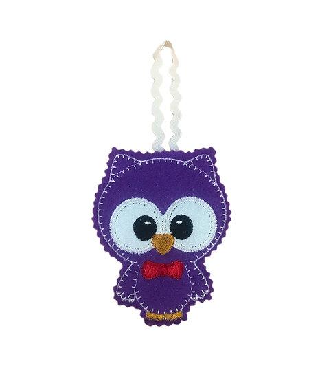 Purple Felt Owl Decoration