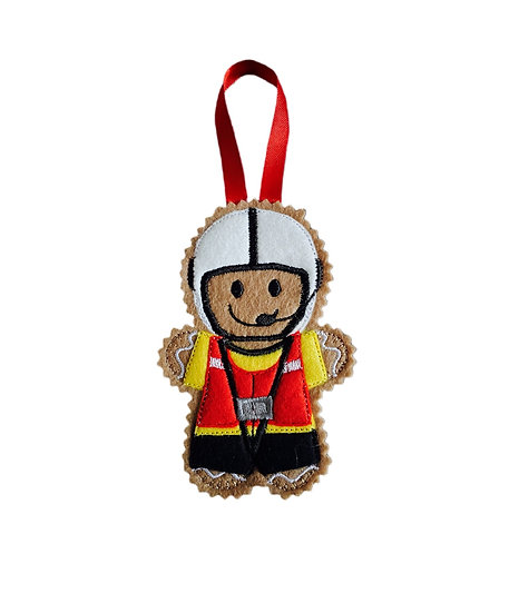 Lifeboat Crew Member Gingerbread Decoration
