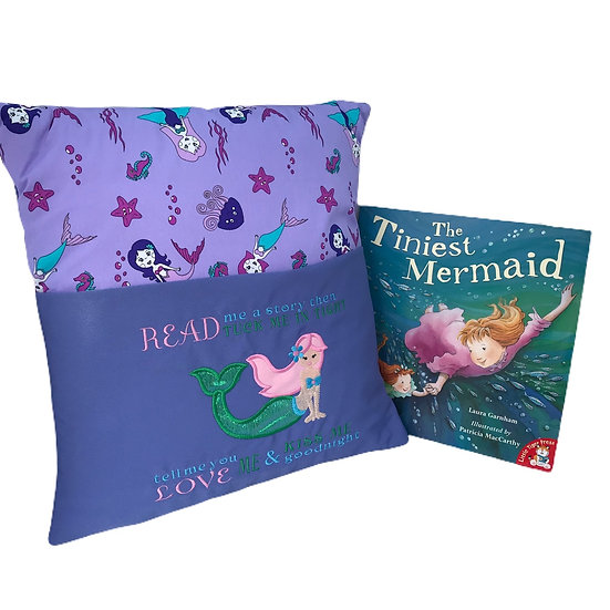 Mermaid Themed Book Cushion
