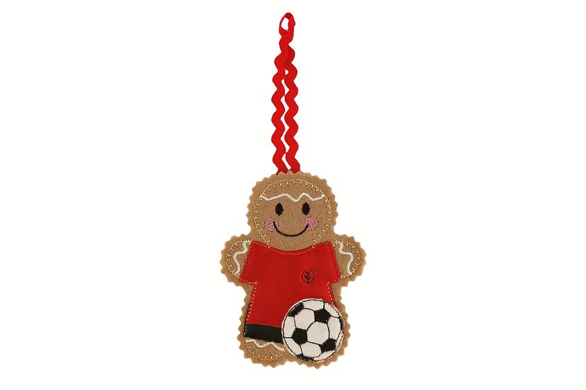 Footballer Gingerbread Decoration