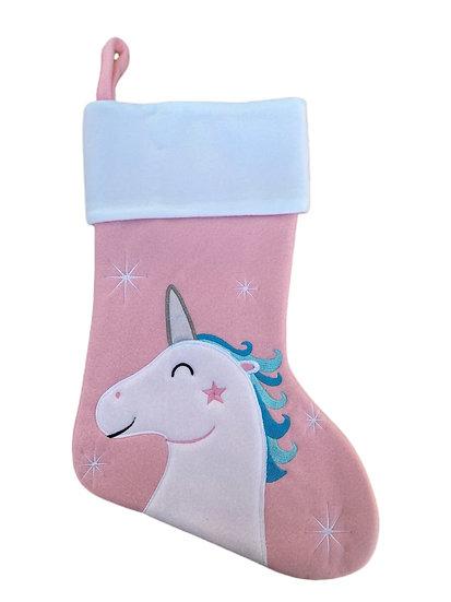 Unicorn Personalised Christmas Stocking