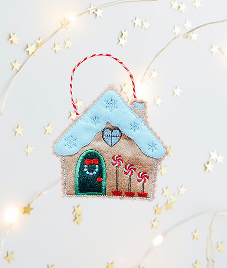 Pinwheel Gingerbread House Decoration