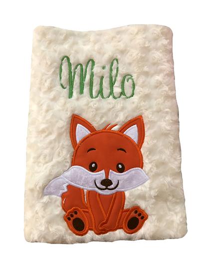 Fox Cream Blanket