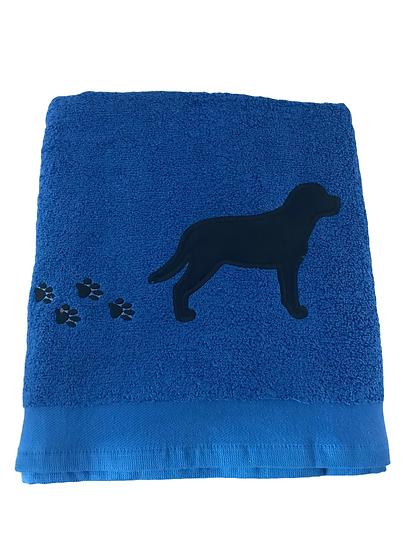 Labrador Towel, Blue towel, black lab, chocolate labrador gift, yellow lab