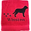 Thumbnail: Personalised Black Labrador - Red Bath Towel
