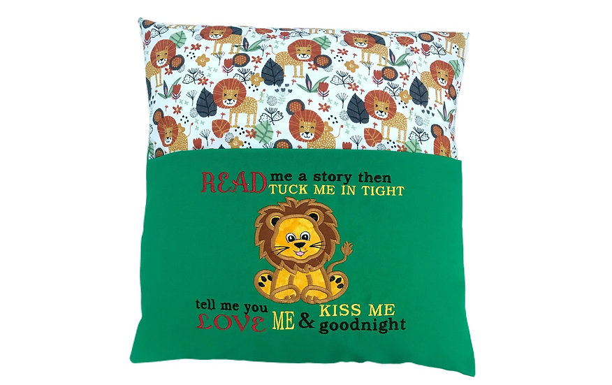 Lion Zoo Themed Reading Book Cushion