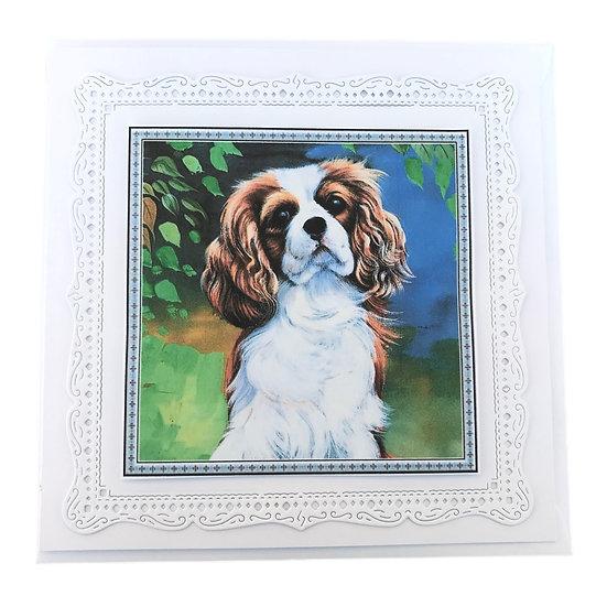 King Charles Spaniel Dog Greetings Card