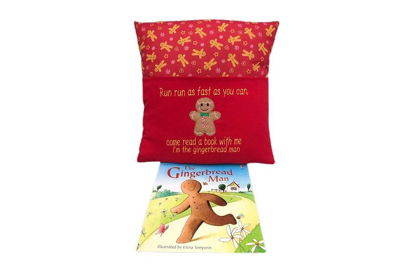 Gingerbread Man Book Cushion