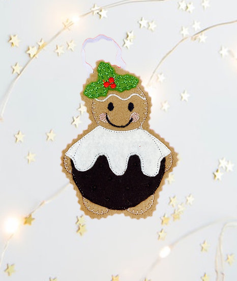 Christmas Pudding Gingerbread Decoration