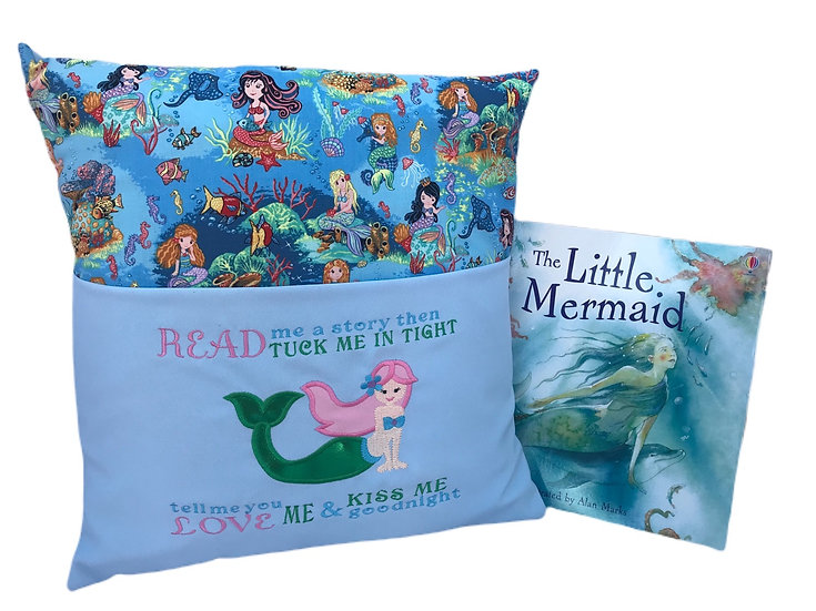 Mermaid themed book cushion