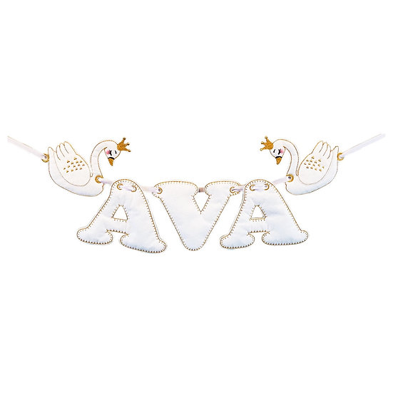 Swan Princess Personalised Felt Banner / Bunting