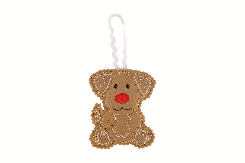 Gingerbread Dog Decoration