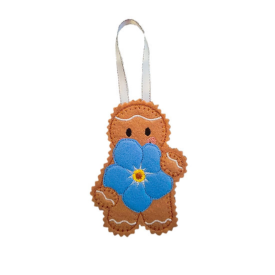 Forget-me-not Flower Gingerbread Decoration
