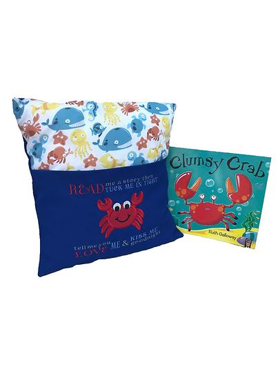 Crab Sea Life Themed Book Cushion