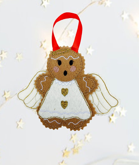 Christmas Angel Gingerbread Decoration