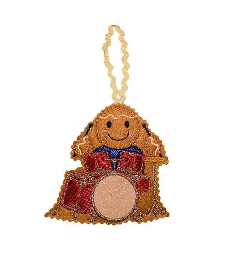 Drummer Gingerbread Man Decoration