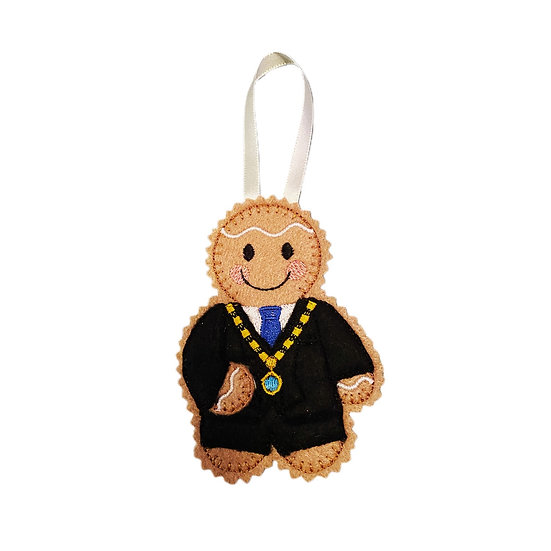 Mayor Gingerbread Decoration