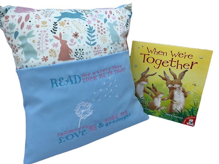 Bunny Rabbit Themed Book Cushion