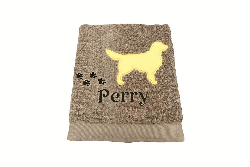 Golden Retriever Personalised Towel