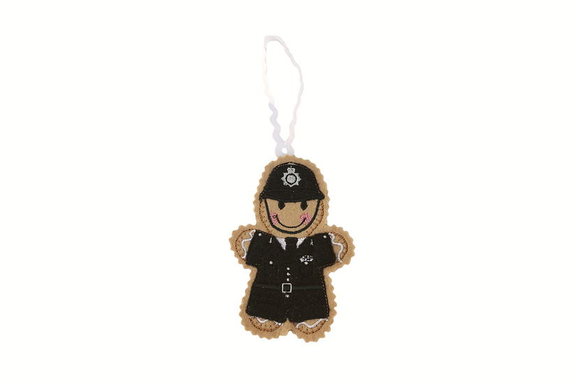 Policeman Gingerbread Decoration