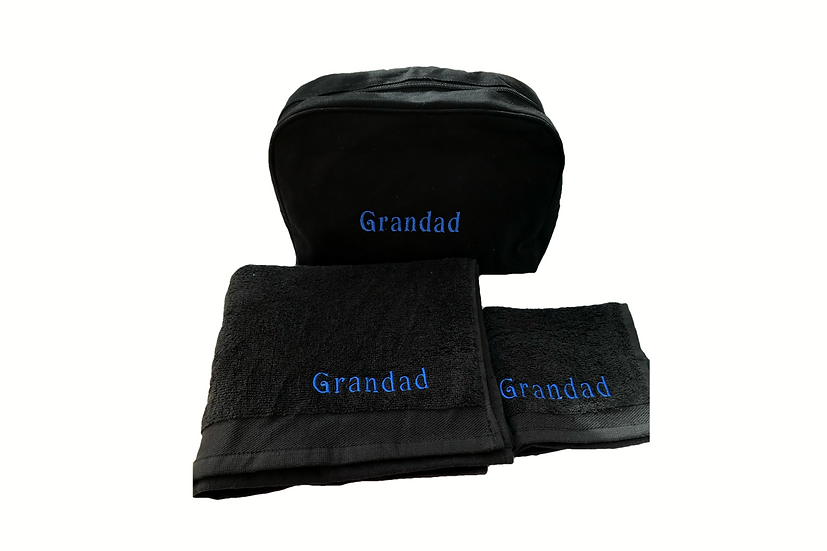Personalised Toiletries Set Grandad/Dad/Name