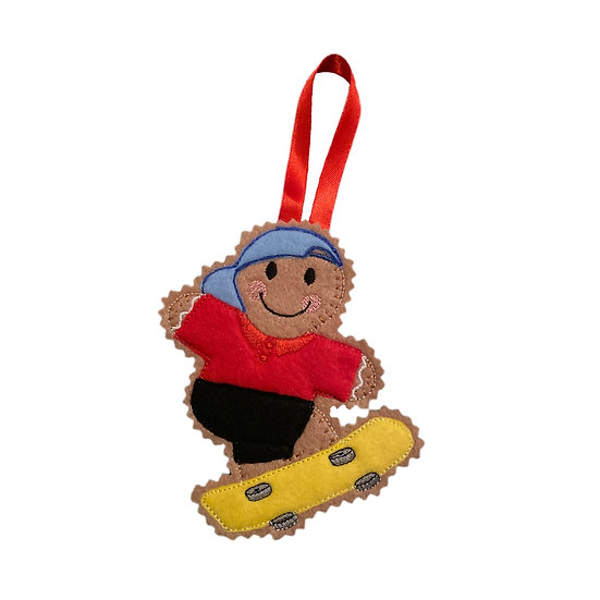 Skateboarder Gingerbread Decoration