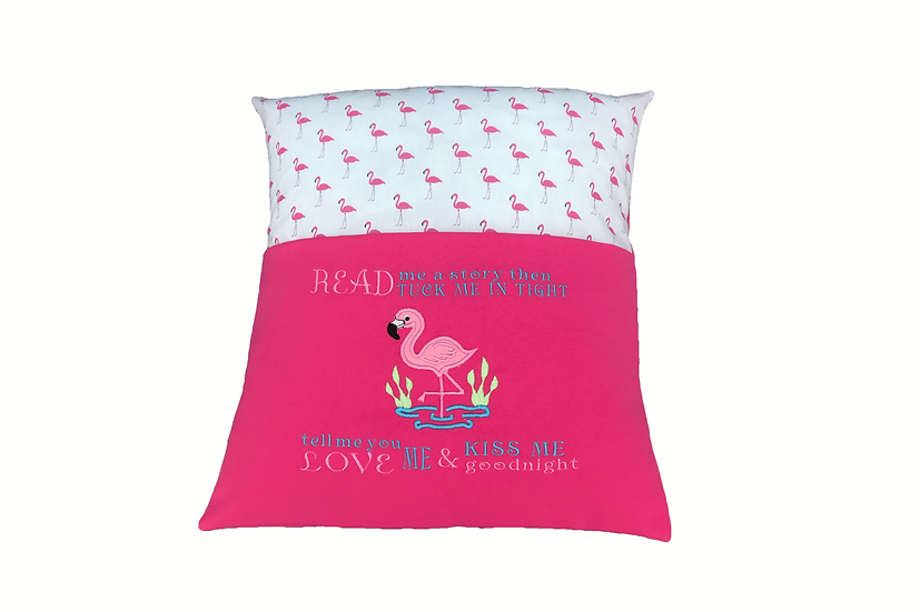 Flamingo Themed Reading Book Cushion