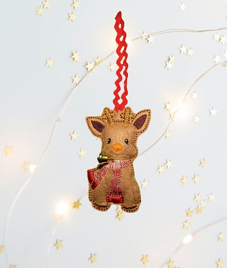 Reindeer Felt  Christmas Decoration
