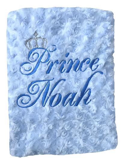 Prince Baby Blue Blanket