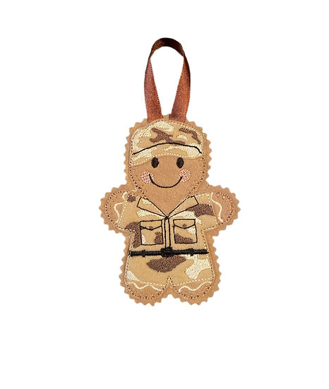 Army Soldier Gingerbread Decoration