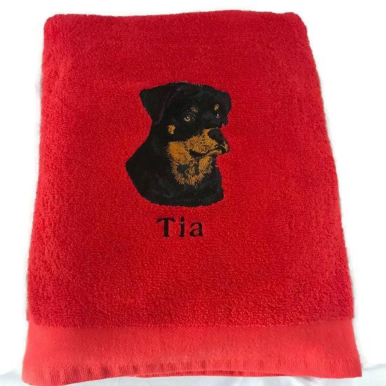 Rottweiler Personalised Towel