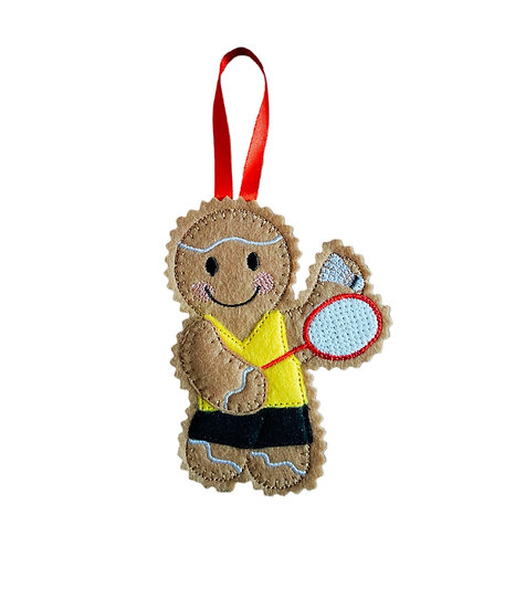 Badminton Player Gingerbread Decoration