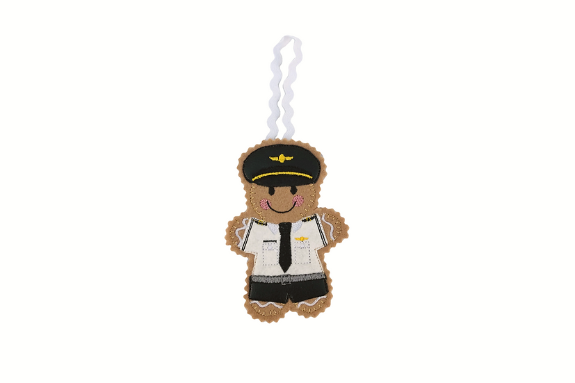 Pilot Gingerbread Decoration