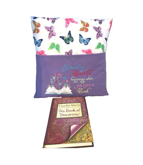 Purple Butterfly Book Cushion
