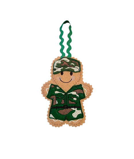 Soldier Gingerbread Man Decoration
