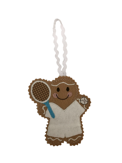 Tennis Player Gingerbread Decoration
