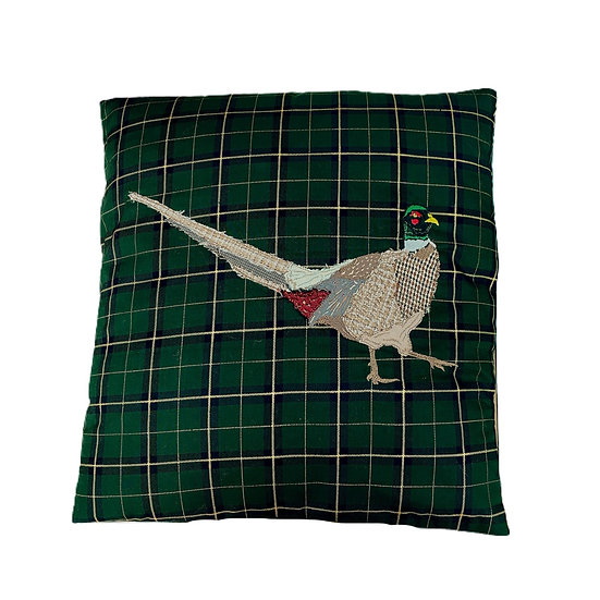 Tartan Pheasant Cushion