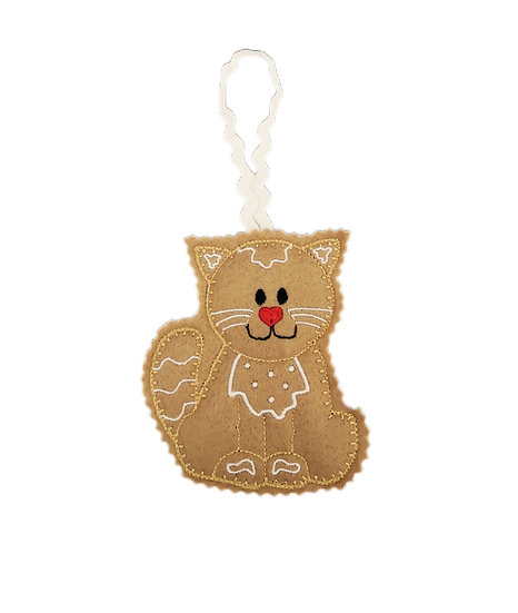 Gingerbread Cat Decoration