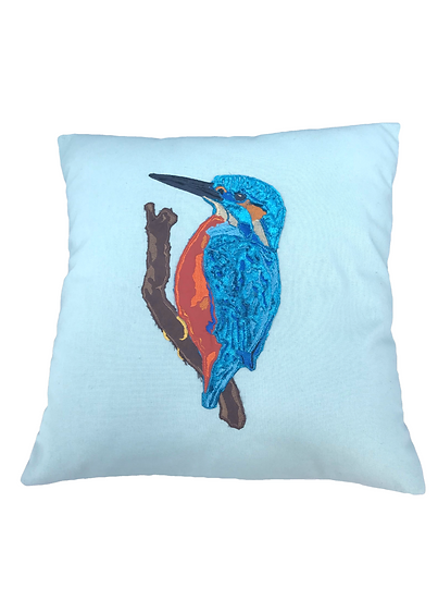 Kingfisher Cushion, British Wildlife