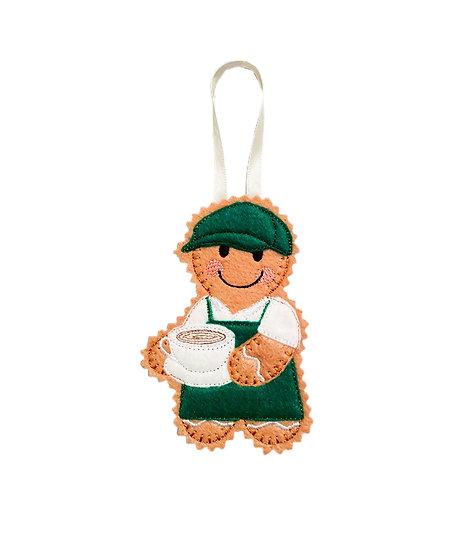 Barista Gingerbread Decoration
