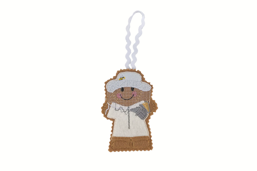 Bee Keeper Gingerbread Decoration
