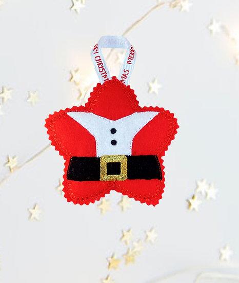 Christmas Kawaii Gingerbread Star Santa Decoration