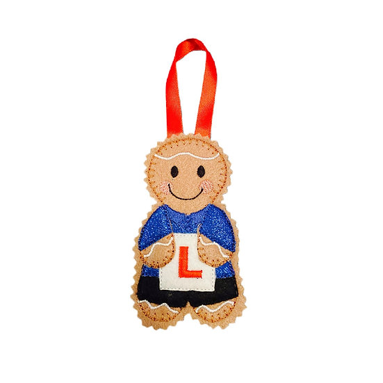 Learner Driver Gingerbread Decoration