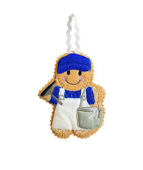 Window Cleaner Gingerbread Decoration