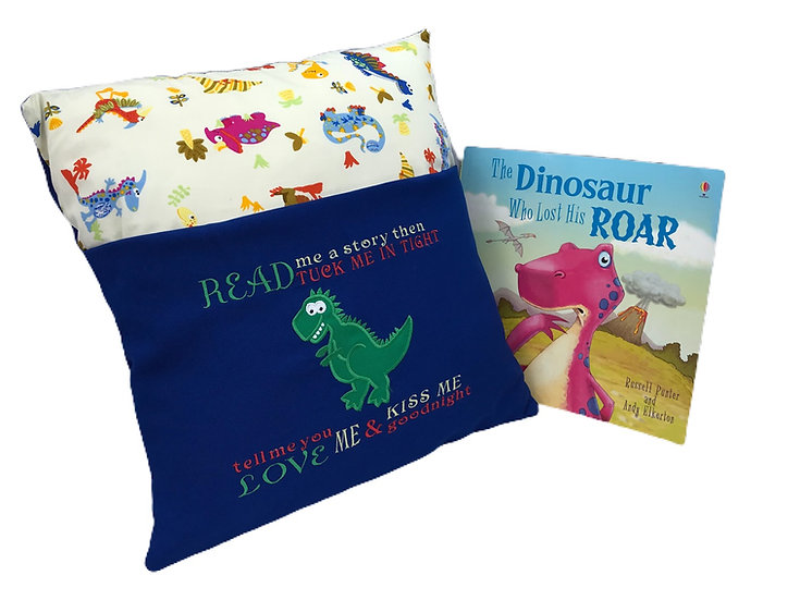 T-rex Dinosaur Themed Book Cushion