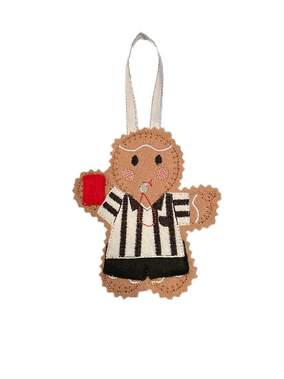 Referee Gingerbread Decoration